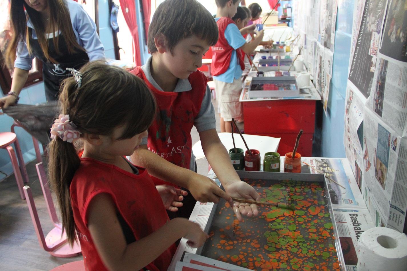 Renklerin Suda Oyunu Ebru Atölyesi