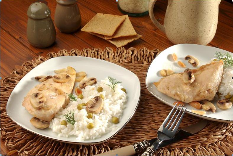 Buharda Pilav ve Bademli Tavuk