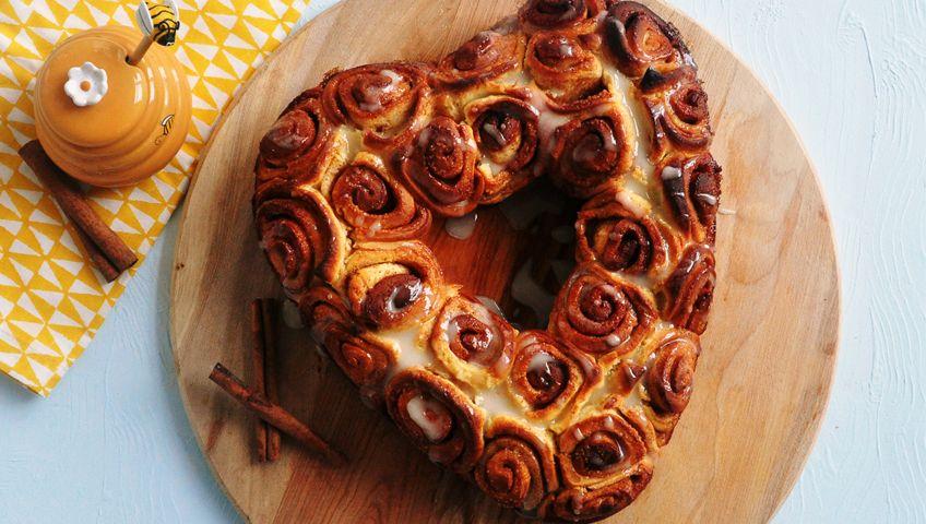 Tarçınlı Kalp Çörek - Tatlılar - Anne Bebek Dergisi